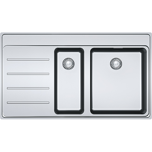 FRANKE BOX Unterbauspüle BXX 110-50 Edelstahl Druckknopf-Excenterventil Unte