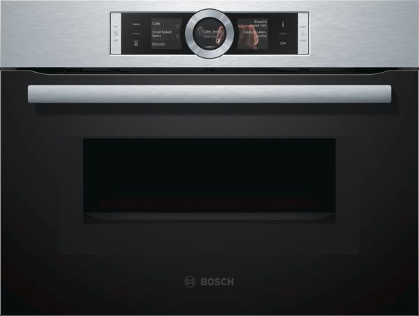 Bosch CMG676BS1 Edelstahl Kompaktbackofen mit Mikrowelle