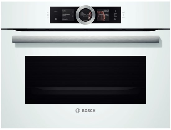 Bosch CSG656RW6 Kompaktdampfbackofen polar weiß