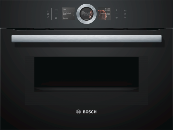 Bosch CMG676BB1 Vulkan schwarz Kompaktbackofen mit Mikrowelle